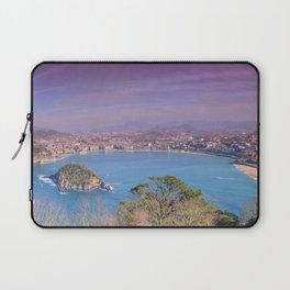 La Concha Bay seen from Igeldo Mount. Laptop Sleeve