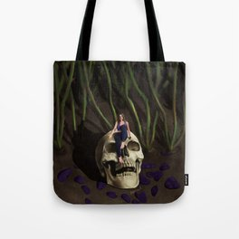 In The Garden At Night Tote Bag