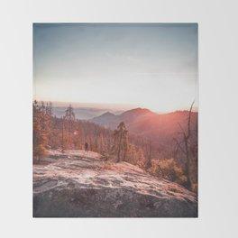 Sunrise Mountain (Color) Throw Blanket