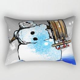 War With Winter Rectangular Pillow
