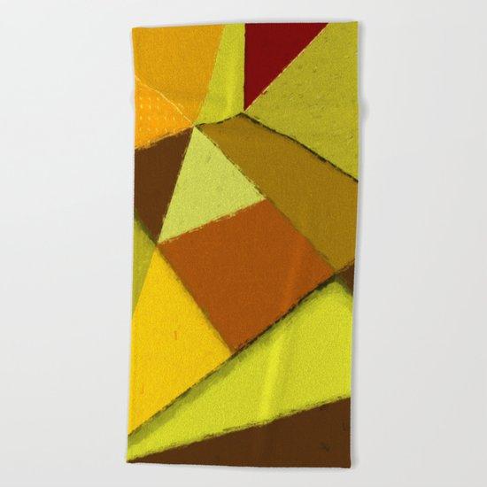 Abstract #377 Beach Towel
