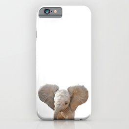 Baby Elephant, Baby Animals Art Prints by Synplus iPhone Case