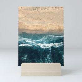 Aerial Coastline Beach Mini Art Print