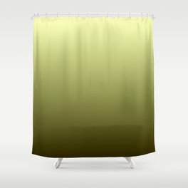Yellow Olive Green Backgrund Shower Curtain