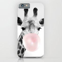Giraffe print, Bubble gum, Nursery art, Giraffe wall art, Animal, Kids room, Modern art, Wall decor Art Print iPhone Case