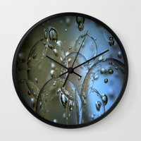 jewish Wall Clocks featuring Voir le beau verre  by Brown Eyed Lady