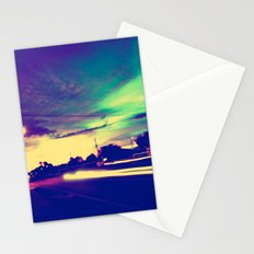 Running Red Lights Stationery Cards