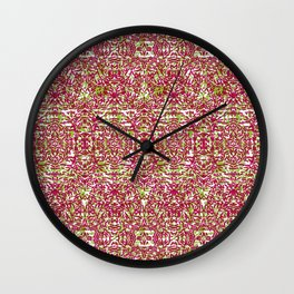 Purple & Green Rice Wall Clock