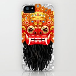 Barong, Balinese mask, Bali mask iPhone Case