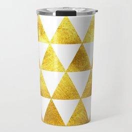 Gold Triangles Travel Mug