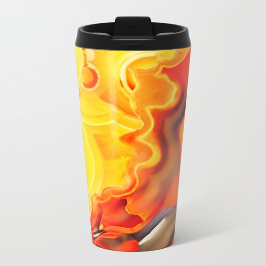 Earth's Fantasy, from the Lithosphere emerges Beauty - Agate Metal Travel Mug
