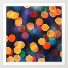 Festive Lights Art Print