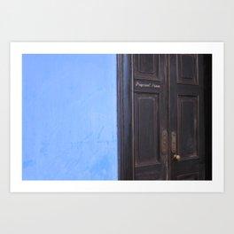 Blue Mansion in Penang, Malaysia (2013c) Art Print
