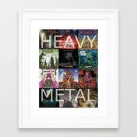 heavy metal Framed Art Prints featuring Heavy Metal by Michael Keene
