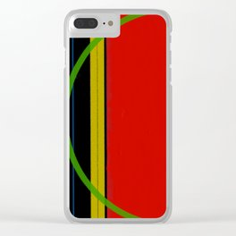 The Tension of Lines and Plains Clear iPhone Case