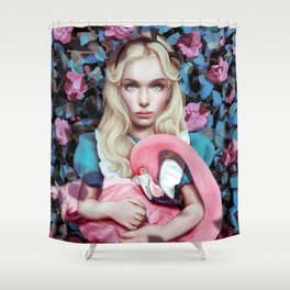 """Alice in Wonderland"" by Giulio Rossi Shower Curtain"