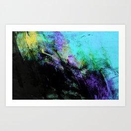 STORMY BLACK Art Print