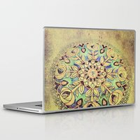 golden Laptop & iPad Skins featuring Golden by Maggie Green
