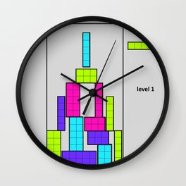 Level 1 blue Wall Clock