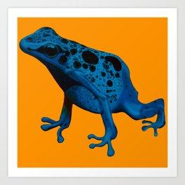 Blue Frog Art Print