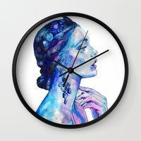 queen Wall Clocks featuring Queen by Andreea Maria Has