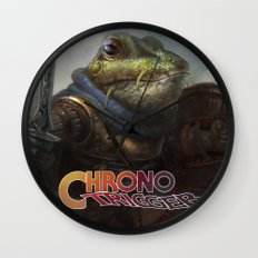 A knightly Frog  Wall Clock
