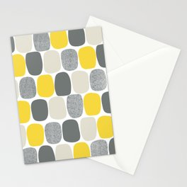 Wonky Ovals in Yellow Stationery Cards