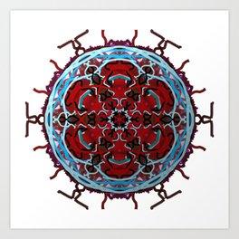 Tribal Cell Circle Art Print