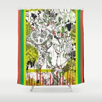 evolution Shower Curtains featuring Evolution  by Devin Feely