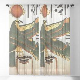 God Horus Sheer Curtain