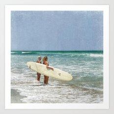 The Girls of Summer Art Print