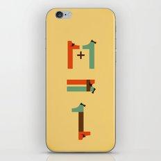 1 plus 1 iPhone & iPod Skin