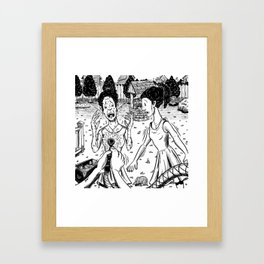 The Tale of the Chameleons Framed Art Print