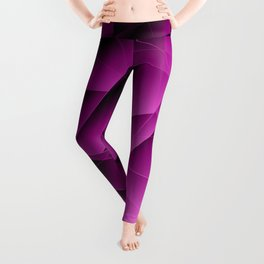 Repetitive overlapping sheets of pastel pink paper triangles. Leggings