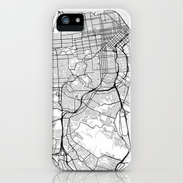 Scandinavian map of San Francisco Penninsula iPhone Case