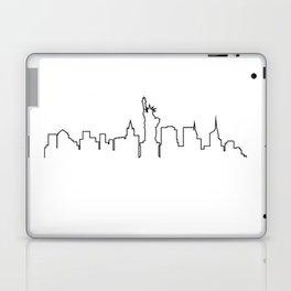 One Line - New York Skyline Laptop & iPad Skin
