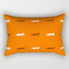 Orange Foxes! Rectangular Pillow