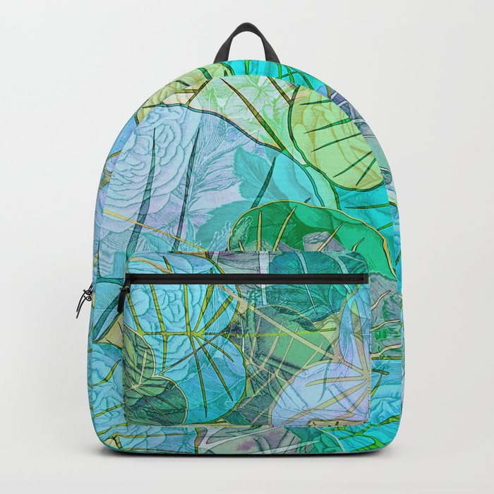 Leaves in Rosy Background 2 Backpack