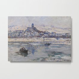 Vétheuil in Winter Metal Print