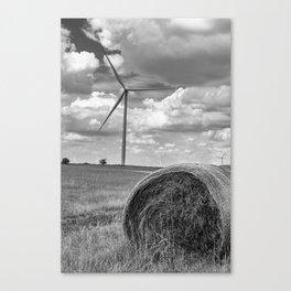Country Wind Turbine Canvas Print