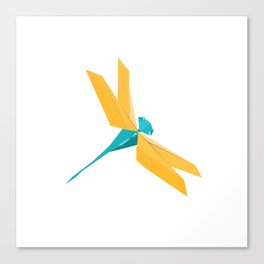Origami Dragonfly Canvas Print