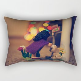 The Girl in the Purple Cloak Rectangular Pillow
