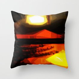 Burnin' down the house Throw Pillow