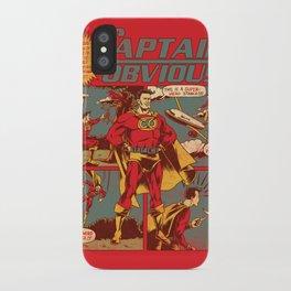 Captain Obvious! iPhone Case