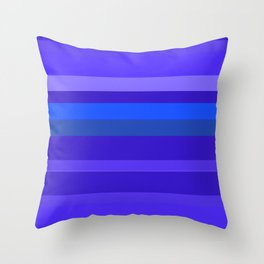 Blue Signs Throw Pillow