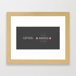 Choose Your Captain: Super Hero Style Framed Art Print