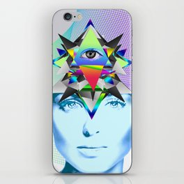 Psychedelic Woman iPhone Skin