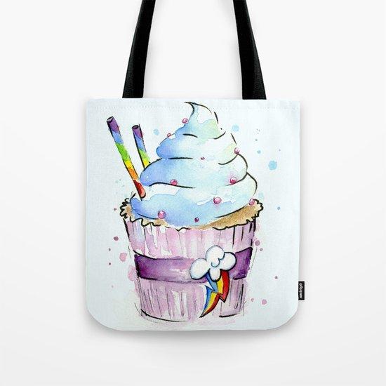 Rainbow Dash Cupcake Sweets Food Tote Bag