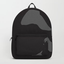 Abstract woman in minimalist style. Female art shadow poster.  Backpack