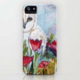 Owl in Poppies iPhone Case